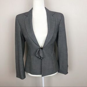 Escada blazer in black and white dotted pattern
